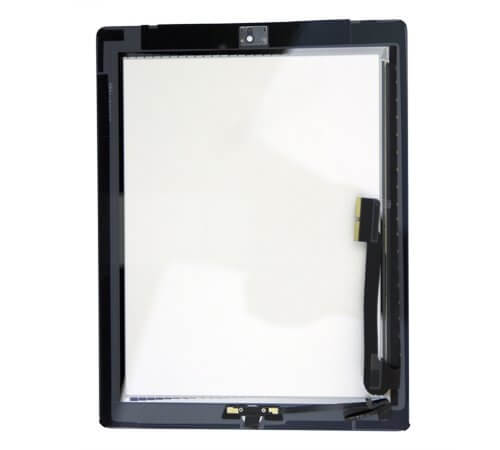 Glass and Digitizer Full Assembly with Home Button and Adhesive, Black, for use with iPad 4