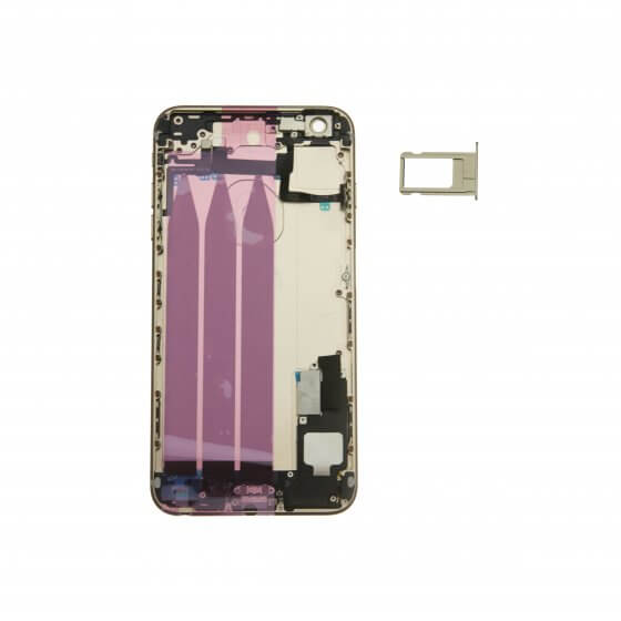 """Back Housing for use with iPhone 6 Plus (5.5"""") w/ Small Parts (Pre-installed) - Gold (No Logo)"""