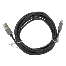 Braided Lightning Cable (6ft) (Grey)