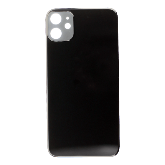 Back Glass (No Logo) for use with iPhone 11 (Black)