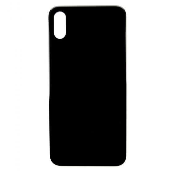 Back cover glass for use with iPhone X (Black)