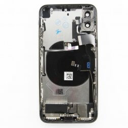 Back cover assembly for use with iPhone X (Black)