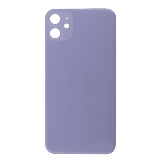 Back Glass (No Logo) for use with iPhone 11 (Purple)