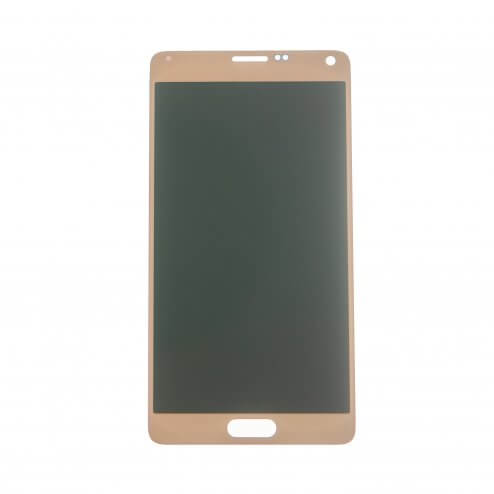 LCD & Digitizer Assembly for use with Samsung Galaxy Note 4 SM-N910, Gold, (No Logo)