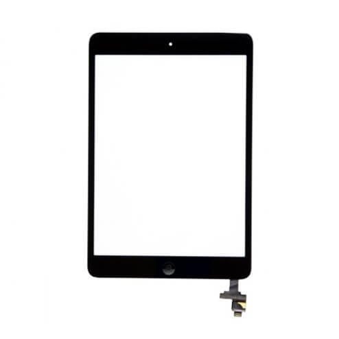 Glass and Digitizer Assembly for use with iPad Mini & iPad Mini w/Retina, Black, with IC chip and home button flex cable A++