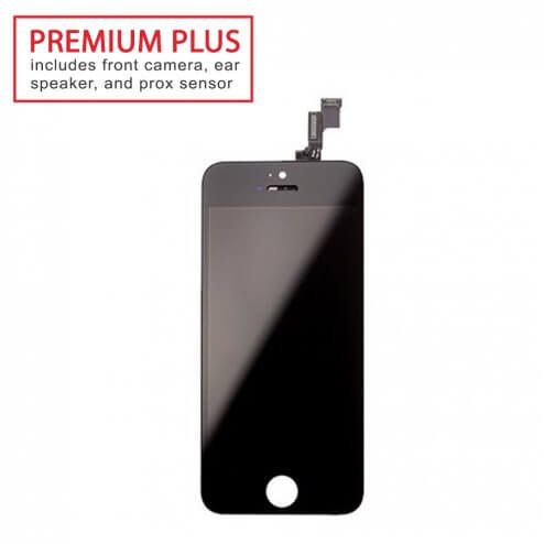 Premium Plus LCD & Digitizer (Full Assembly) for use with iPhone 5S (Black)
