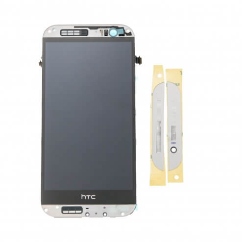 LCD with Digitizer and Frame for use with HTC One (M8), Silver