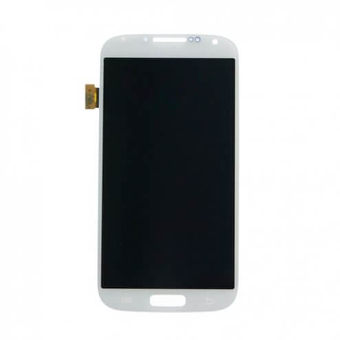 LCD Screen & Digitizer Assembly, White Frost, for use with Samsung Galaxy S4 I9500, No Frame