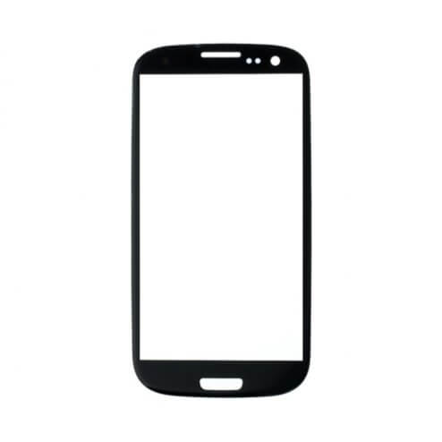 Glass only for use with Samsung Galaxy S3 Sapphire Black (No Logo)