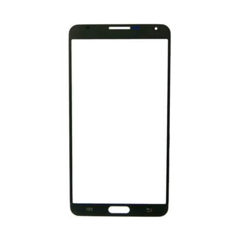 Glass only for use with Samsung Galaxy Note 3 SM-N900, Black (No Logo)