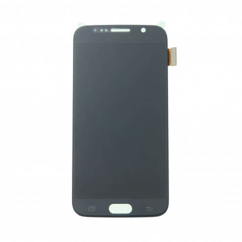 LCD & Digitizer Assembly for use with Samsung Galaxy S6 G920 Black Sapphire (No home button & flex)