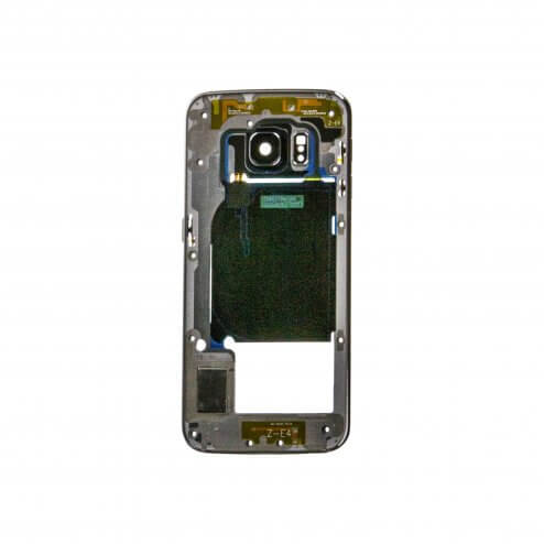 Back Housing for use with Samsung Galaxy S6 Edge G925, with Small Parts, Black