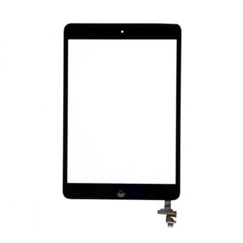 Glass and Digitizer Assembly for use with iPad Mini & iPad Mini w/Retina, Black, with IC chip and home button flex cable