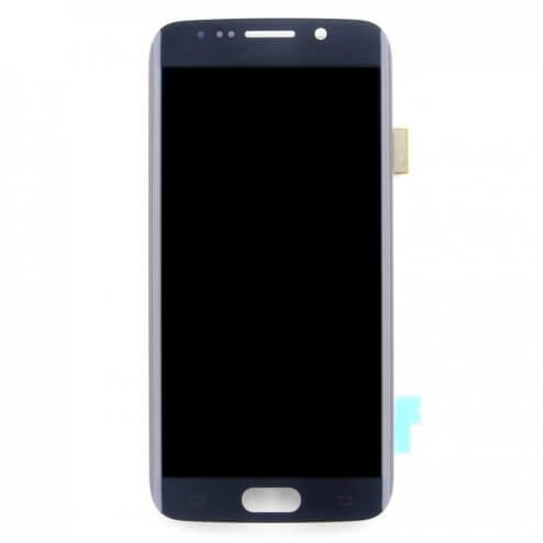 LCD & Digitizer Assembly for use with Samsung Galaxy S6 Edge G925, Black Sapphire, No Frame (No home button & flex)