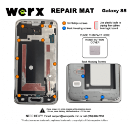 Magnetic Screwmat - Samsung Galaxy S5