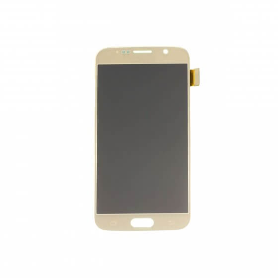LCD & Digitizer Assembly for use with Samsung Galaxy S6 G920 Gold (No home button & flex)