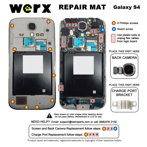 Magnetic Screwmat - Samsung Galaxy S4