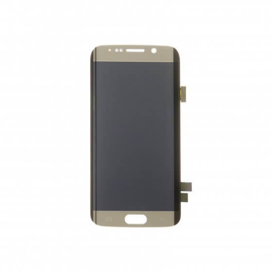 LCD & Digitizer Assembly for use with Samsung Galaxy S6 Edge SM-G925, Gold, no Frame (No Logo)