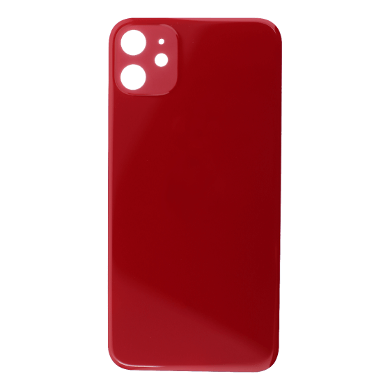 Back Glass (No Logo) for use with iPhone 11 (Red)
