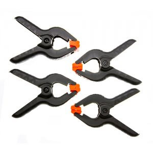 Set of 4 Spring Clamps, 4