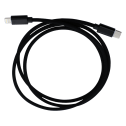 Braided USB C to Lightning Charge cable (3ft) (Black)