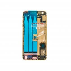 """Back Housing for use with iPhone 6S Plus (5.5""""), With Small Parts, Gold (No Logo)"""