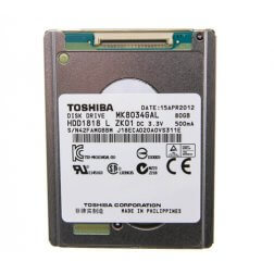 Hard Drive, Thin for use with iPod Classic 80gb, Thin
