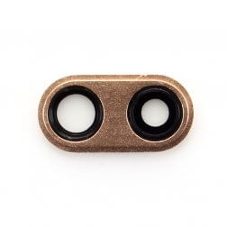 Back camera ring with lens  for use with iPhone 8 Plus (Gold)