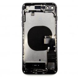 Back cover assembly for use with iPhone 8 Plus (Black)