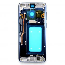 Middle frame w/ small parts for use with Samsung Galaxy S9+ (Blue)