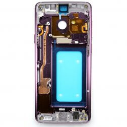 Middle frame w/ small parts for use with Samsung Galaxy S9+ (Purple)