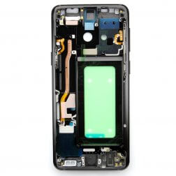 Middle frame with small parts for use with Samsung Galaxy S9 (Black)