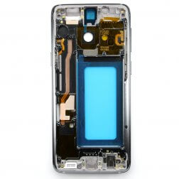 Middle frame with small parts for use with Samsung Galaxy S9 (Silver)