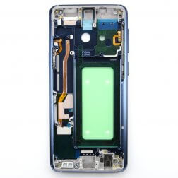 Middle frame with small parts for use with Samsung Galaxy S9 (Blue)