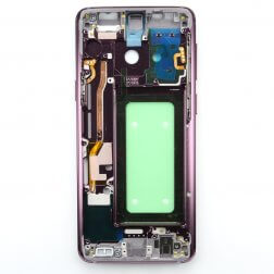 Middle frame with small parts for use with Samsung Galaxy S9 (Purple)