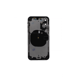 Back Housing w/small components Pre-Installed for use with iPhone XS (No Logo) (Space Grey)