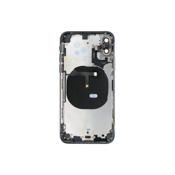 Back Housing w/Volume Keys, Power Button & Brackets installed for use with iPhone XS (Black)