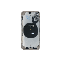 Back Housing w/Volume Keys, Power Button & Brackets installed for use with iPhone XS (Gold)