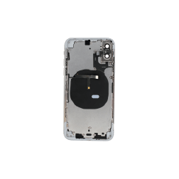 Back Housing w/Volume Keys, Power Button & Brackets installed for use with iPhone XS (White)
