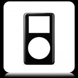 Faceplate, Black for use with iPod Photo