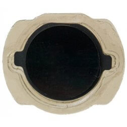 Black Home Button, Button with Rubber Surround Only, for use with iPod Touch Gen 4