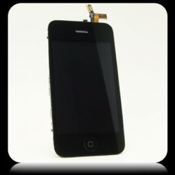 Complete LCD Assembly Digitizer, Front Glass and Frame for use with iPhone 3GS