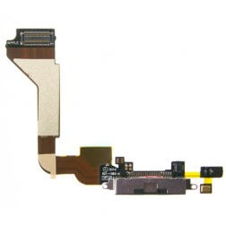 Docking Charging Port, Bottom Mic and Flex Cable, Black, AT&T Only for use with iPhone 4