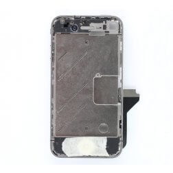 Aluminum bezel with small white parts assembly for use with iPhone 4 GSM (New, Pre-assembled) for use with iPhone 4