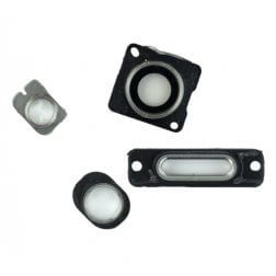 Small Parts 4-Piece Set for use with iPhone 5, White Aluminum
