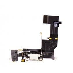 Charging Dock/Headphone Jack Flex Cable for use with the iPhone 5S, White
