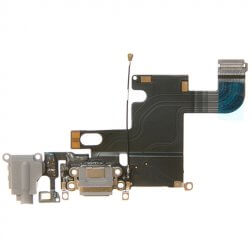 Charging Dock/Headphone Jack Flex Cable for use with the iPhone 6 (4.7), Dark Gray