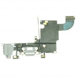 "Charging Dock/Headphone Jack Flex Cable for use with the iPhone 6S (4.7""), LIght Gray"