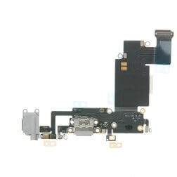 "Charging Dock/Headphone Jack Flex Cable for use with iPhone 6S Plus (5.5""), LIght Gray"