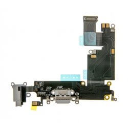 "Charging Dock/Headphone Jack Flex Cable for use with the iPhone 6 Plus (5.5""), Light Gray"